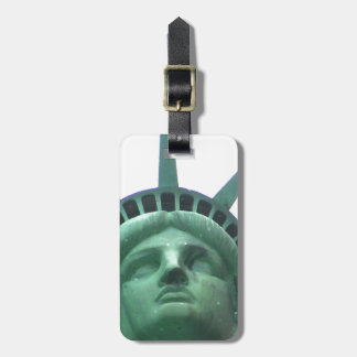 Estatua de las etiquetas del equipaje de la libert etiqueta para maleta