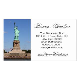 Estatua de las tarjetas de visita de la libertad