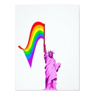 Estatua de LGBT de la plantilla de la invitación