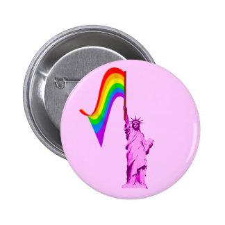 Estatua de LGBT del botón de la libertad Pin Redondo De 2 Pulgadas