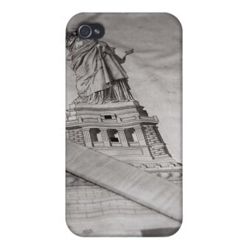 Estatua de los casos de Iphone de la libertad iPhone 4 Cárcasas