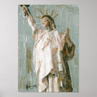 Estatua de los posters de la libertad