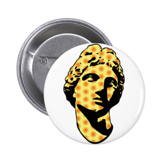 Estatua de mármol de Apolo Pin Redondo De 2 Pulgadas
