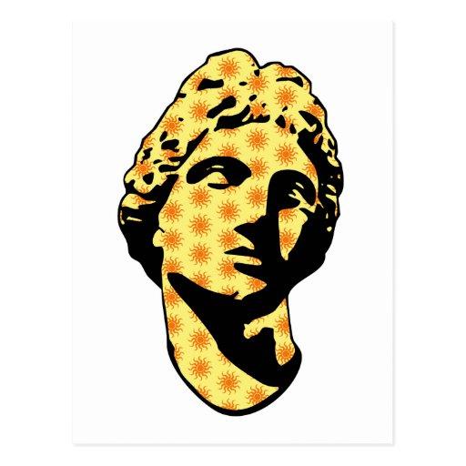 Estatua de mármol de Apolo Tarjetas Postales