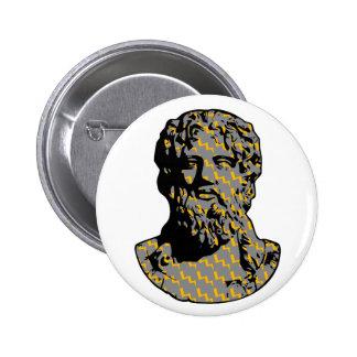 Estatua de mármol de Zeus Pin Redondo De 2 Pulgadas