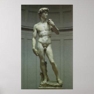 Estatua de mármol del renacimiento de David de Mig Posters