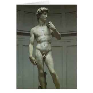 Estatua de mármol del renacimiento de David de Mig Felicitación