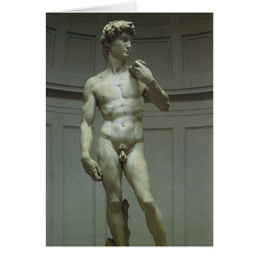 Estatua de mármol del renacimiento de David de Felicitación