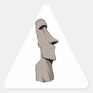 Estatua de Moai (isla de pascua) Calcomania De Triangulo Personalizadas