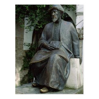 Estatua de Moses Maimonides Tarjeta Postal