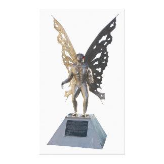 Estatua de Mothman del punto Virginia Occidental a Lienzo Envuelto Para Galerías