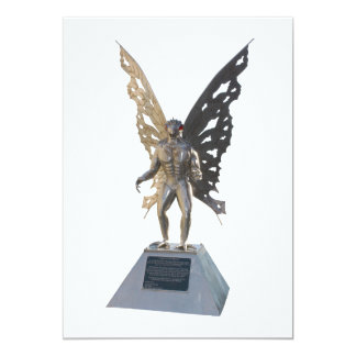 """Estatua de Mothman del punto Virginia Occidental Invitación 5"""" X 7"""""""