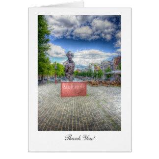 Estatua de Mulltatuli, Amsterdam - gracias Tarjeta De Felicitación