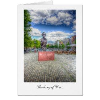 Estatua de Mulltatuli, Amsterdam - pensando en Tarjeta De Felicitación