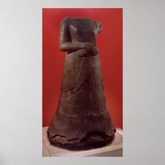 Estatua de Napirasu, esposa del rey de Elamite Póster
