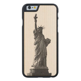 Estatua de New York City del caso de madera de la Funda De iPhone 6 Carved® De Arce