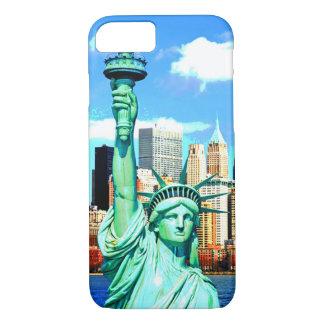Estatua de NewYork de la caja del teléfono 6 de la Funda iPhone 7