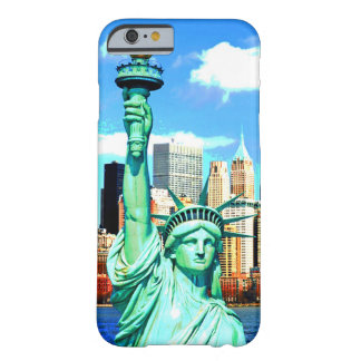 Estatua de NewYork de la caja del teléfono 6 de la Funda Para iPhone 6 Barely There
