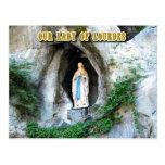Estatua de nuestra señora de Lourdes, Lourdes, Fra Postales