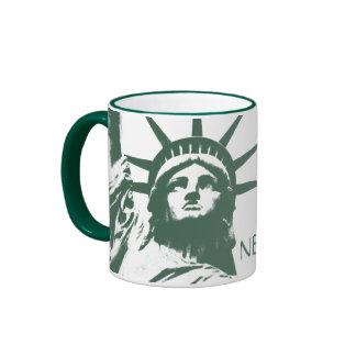 Estatua de Nueva York de la taza de Nueva York de