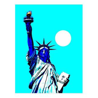 Estatua de Nueva York del arte pop de la libertad Tarjetas Postales
