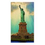 Estatua de Nueva York del vintage de la libertad Tarjetas De Negocios