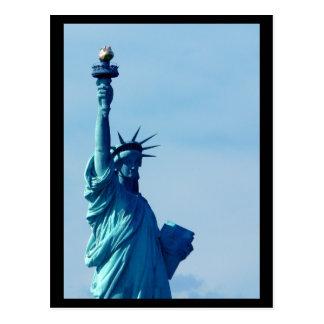 Estatua de NYC del azul de la libertad Postal