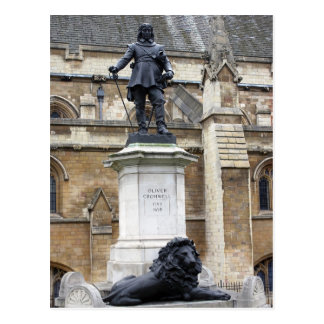 Estatua de Oliver Cromwell - Londres - postal