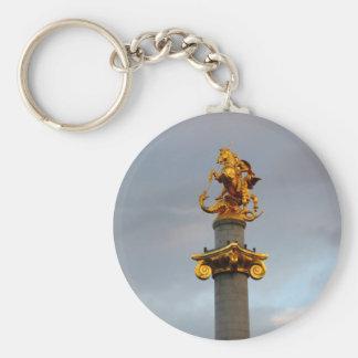 Estatua de oro de San Jorge, la República de Georg Llavero Redondo Tipo Pin