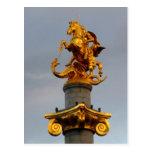 Estatua de oro de San Jorge, la República de Postal