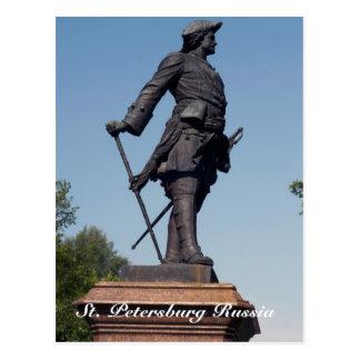 Estatua de Peter el grande, St Petersburg Rusia Tarjetas Postales