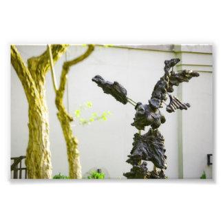 Estatua de piedra del ángel impresiones fotograficas