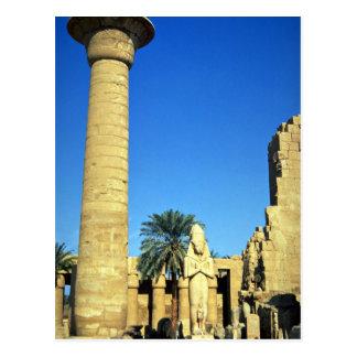 Estatua de Pinodjem I, templo de Karnak, Egipto Tarjeta Postal