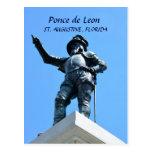 Estatua de Ponce de León Tarjetas Postales