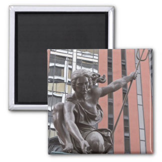 Estatua de Portlandia, Portland, Oregon Imán Cuadrado