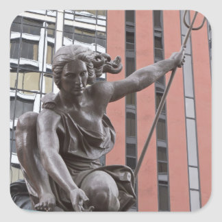 Estatua de Portlandia, Portland, Oregon Calcomanía Cuadradase