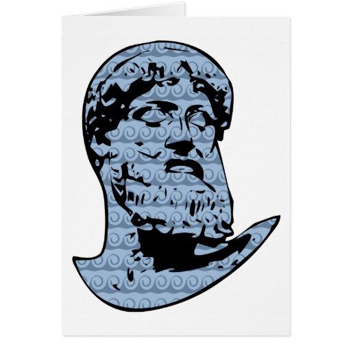 Estatua de Poseidon Tarjeta De Felicitación