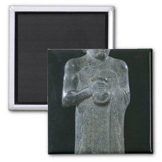 Estatua de príncipe Gudea, c.2150 A.C. Imán Cuadrado