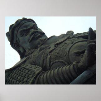 Estatua de Qian Liu Póster