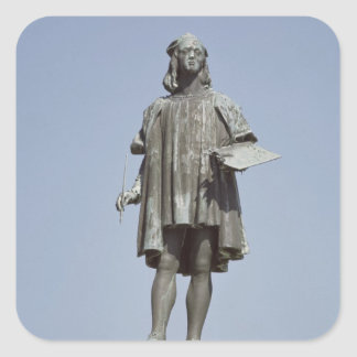 Estatua de Raphael Sanzio de Urbino, 1897 Pegatina Cuadradas Personalizada
