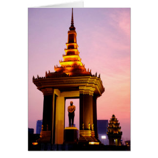 Estatua de rey Father Norodom Sihanouk Tarjeta De Felicitación