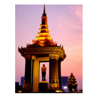 Estatua de rey Father Norodom Sihanouk Tarjeta Postal
