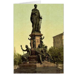 Estatua de rey Maximiliano II de Baviera, Munich,  Tarjeton