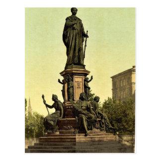 Estatua de rey Maximiliano II de Baviera, Munich,  Tarjetas Postales
