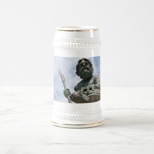 Estatua de rey Neptuno Virginia Beach Jarra De Cerveza