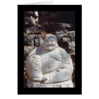 Estatua de risa de Buda Tarjeta De Felicitación