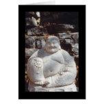 Estatua de risa de Buda Tarjetón