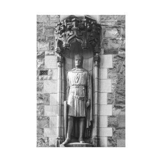 Estatua de Roberto el Bruce en el castillo de Impresion En Lona