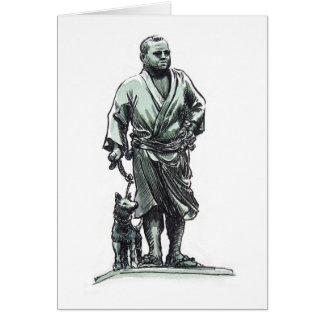 Estatua de Saigo Takamori Tarjeta De Felicitación