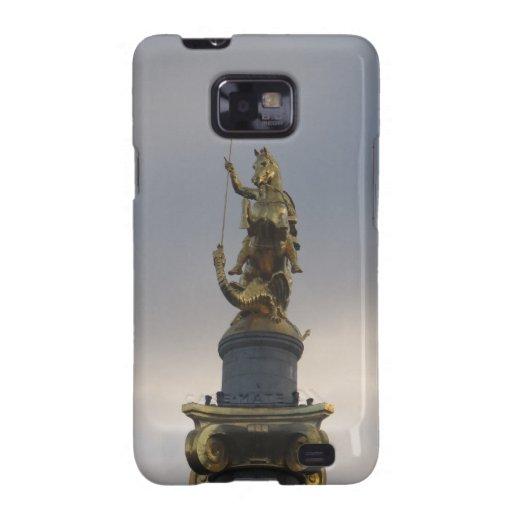 Estatua de San Jorge en el cuadrado de la libertad Galaxy S2 Carcasa